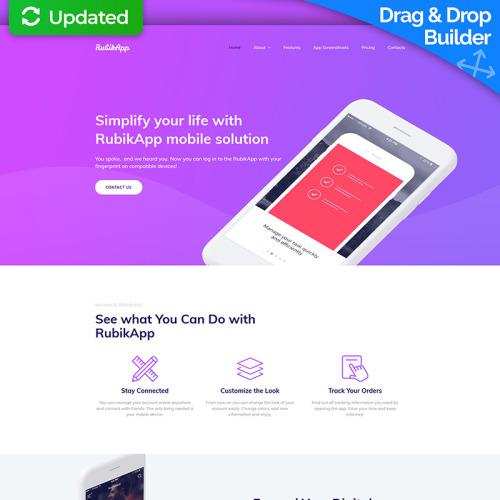 RubikApp - Mobile App Premium - MotoCMS 3 Template based on Bootstrap