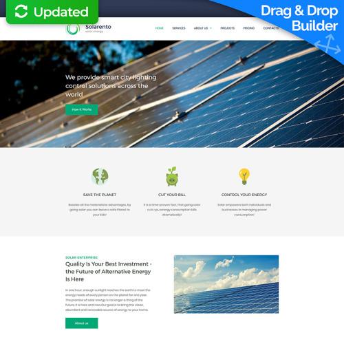 Solar Energy Premium - MotoCMS 3 Template based on Bootstrap