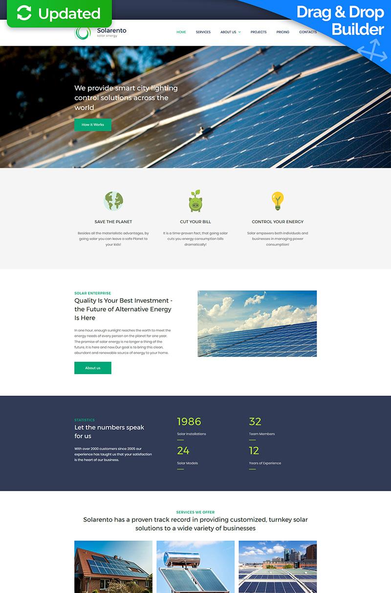 Solar Energy Premium Templates Moto CMS 3 №64209