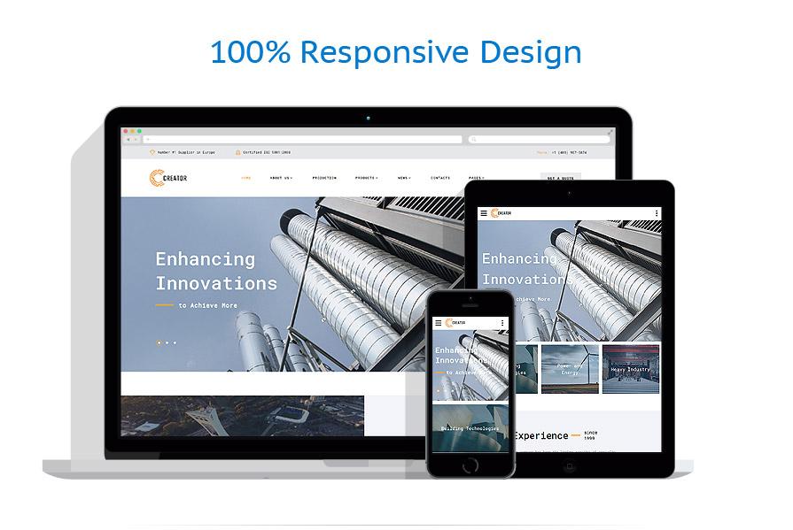 Modèles HTML5 Industriel #64346