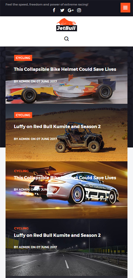 jetbull extreme racing responsive powered wordpress website templates. Black Bedroom Furniture Sets. Home Design Ideas