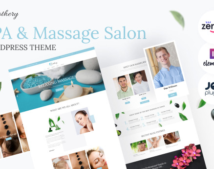 Soothery - SPA & Massage Salon Responsive WordPress Theme