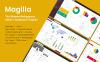 Responsivt Admin-mall för webutveckling En stor skärmdump