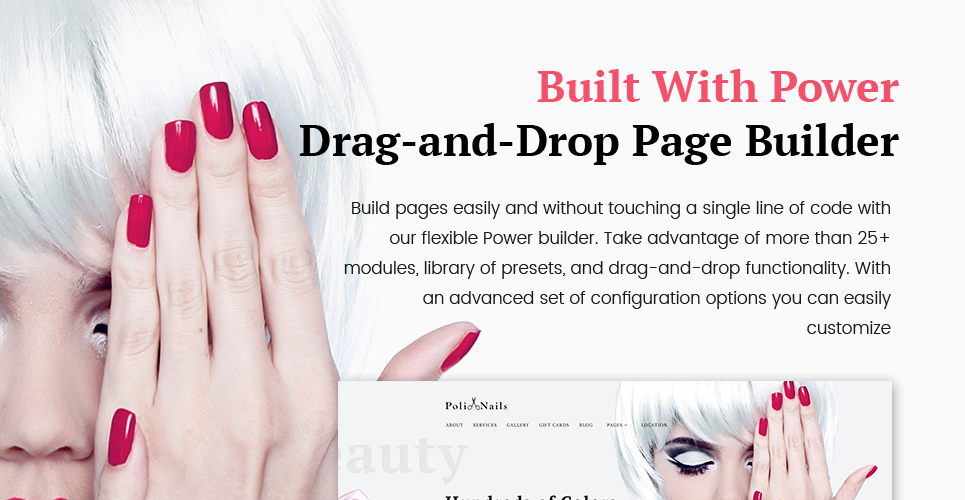 PoliNails Is Bright And Eye Catching Nail Salon WordPress Theme That Has A Power To Improve The Image Of Your Business On Web