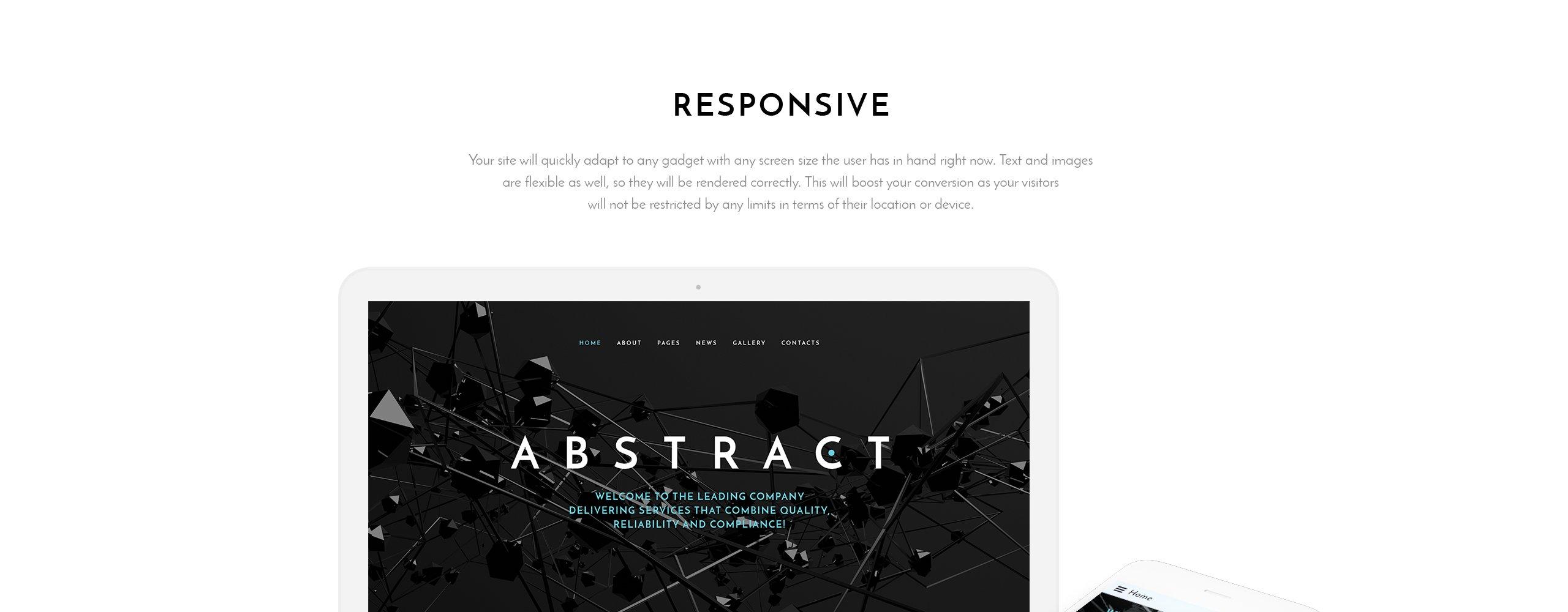 Abstract Business  Responsive Joomla Template