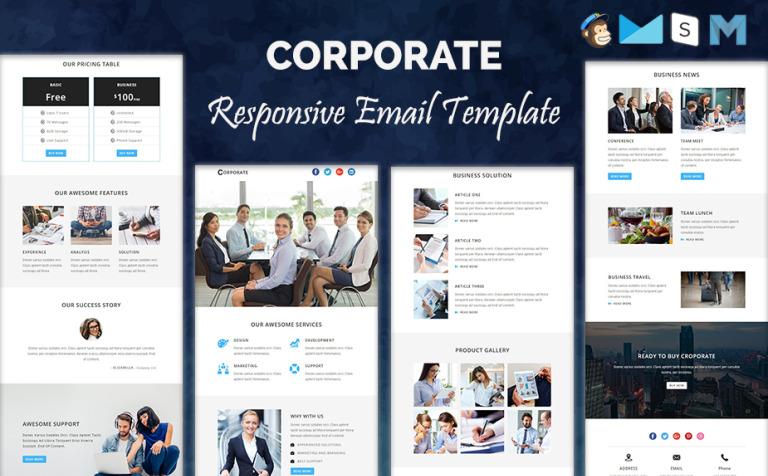 Corporate Responsive Newsletter Template Newsletter Template 64368