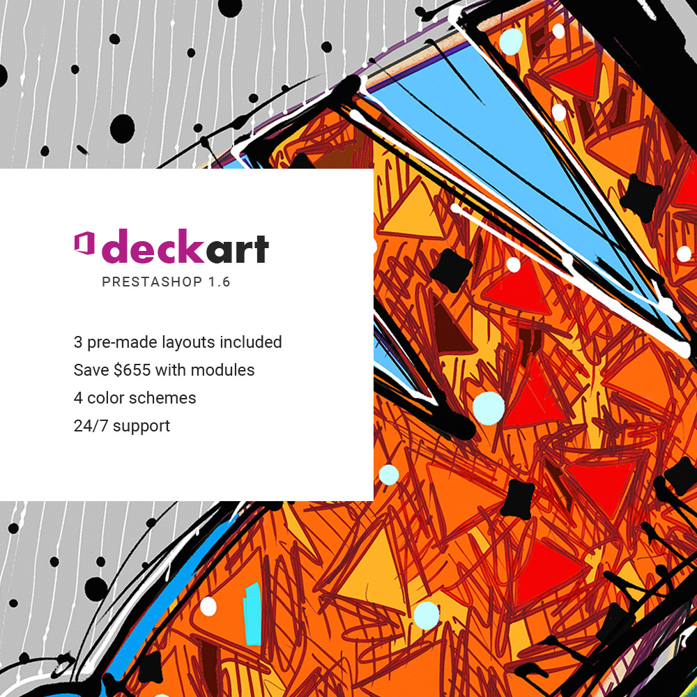 DeckArt Responsive PrestaShop Theme - screenshot
