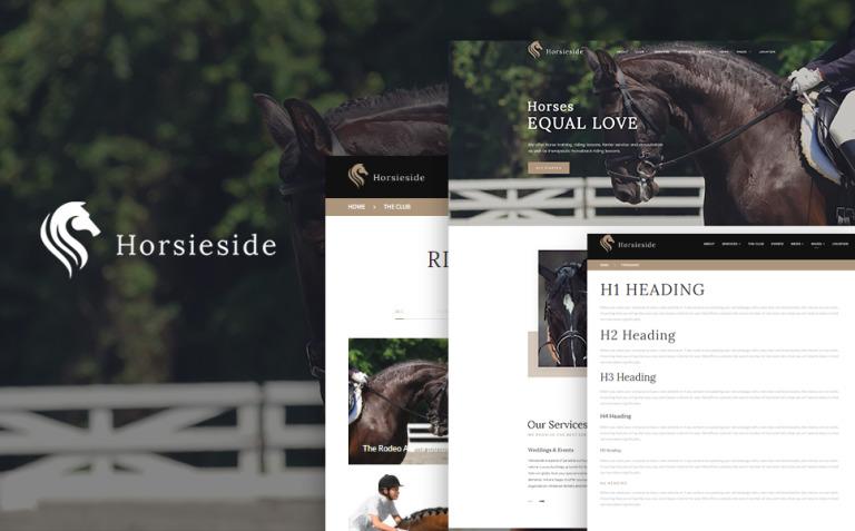 Horsieside - Equestrian Center Responsive WordPress Theme New Screenshots BIG