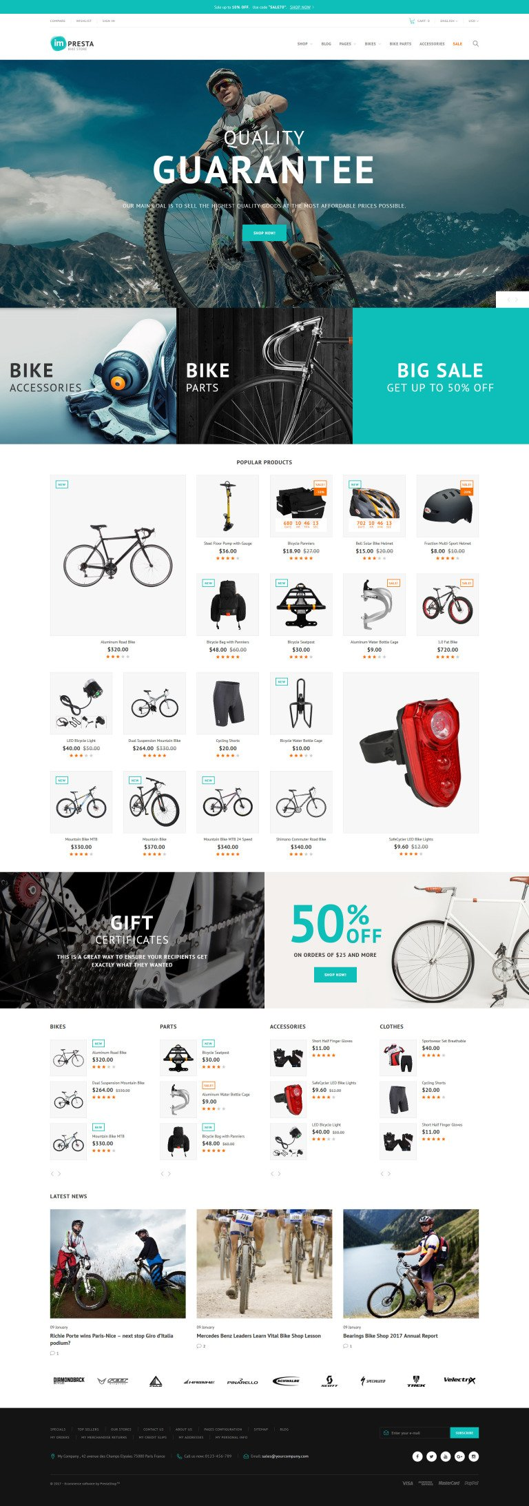 Impresta - Bike Store PrestaShop Theme New Screenshots BIG