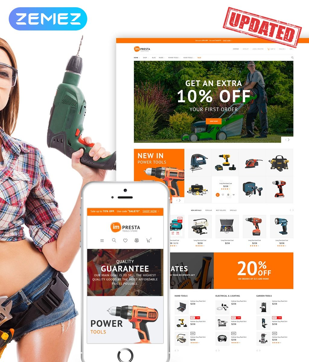 Impresta Tools PrestaShop Theme