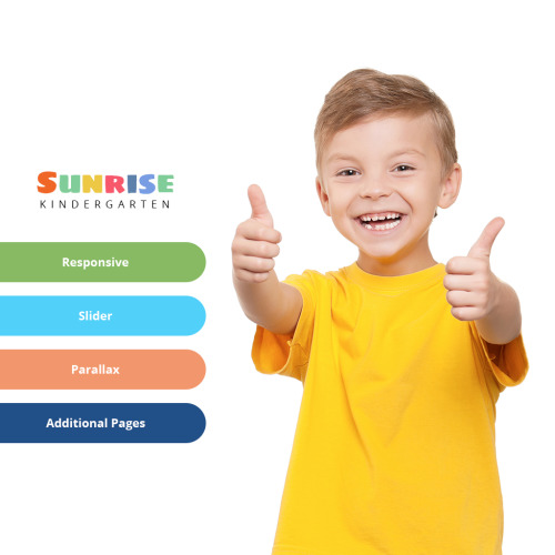 Sunrise Kindergarten - Joomla! Template based on Bootstrap