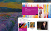 Modello PrestaShop Responsive #64364 per Un Sito di Galleria d'Arte New Screenshots BIG