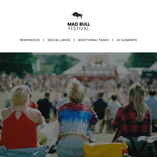 Mad Bull  - HTML5 Joomla! Music Festival Template