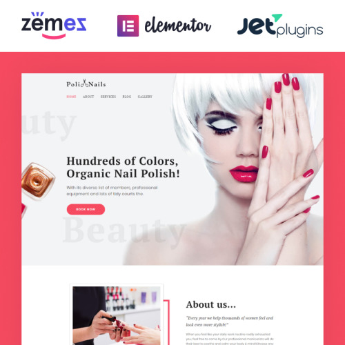 PoliNails - HTML5 WordPress Template for Nail Salons