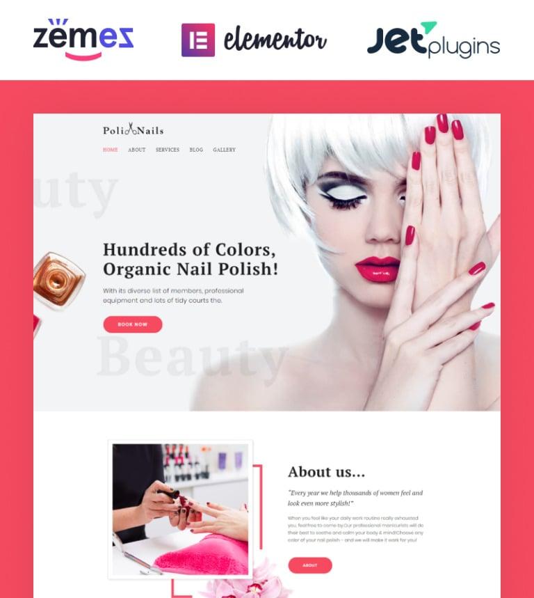 PoliNails - Nail Salon WordPress Theme