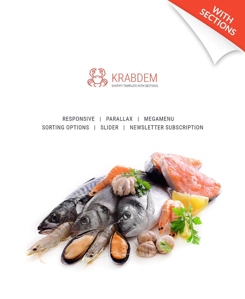 Responsive Deniz Ürünleri Restoran Shopify #64352