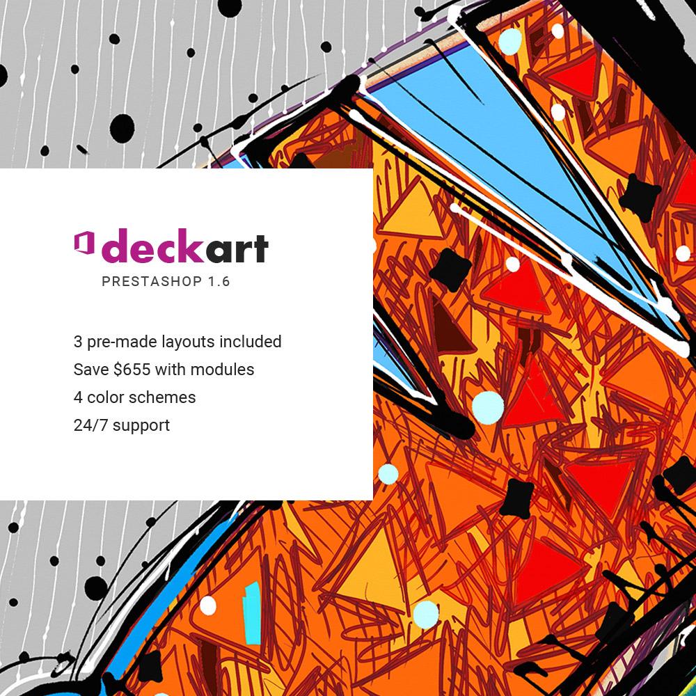 Responsivt DeckArt Responsive PrestaShop-tema #64364 - skärmbild