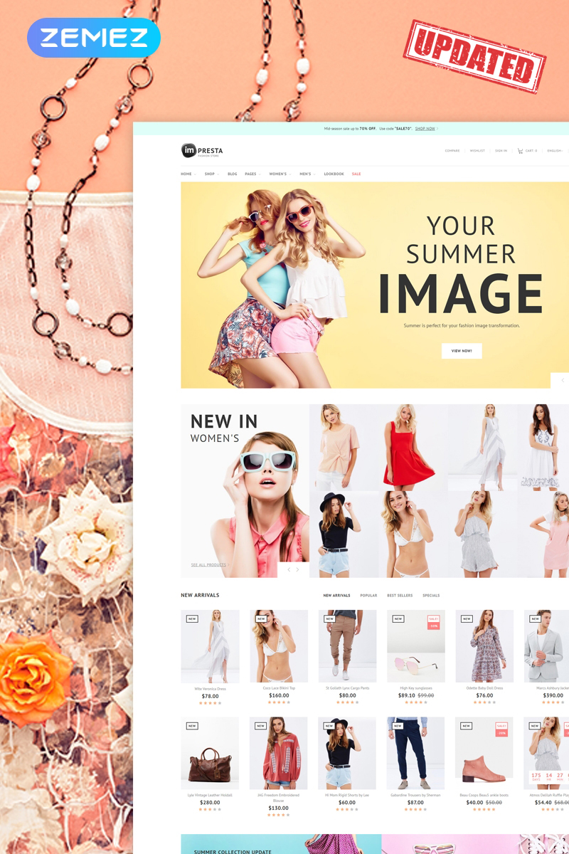 Responsivt Impresta - Fashion PrestaShop-tema #64386