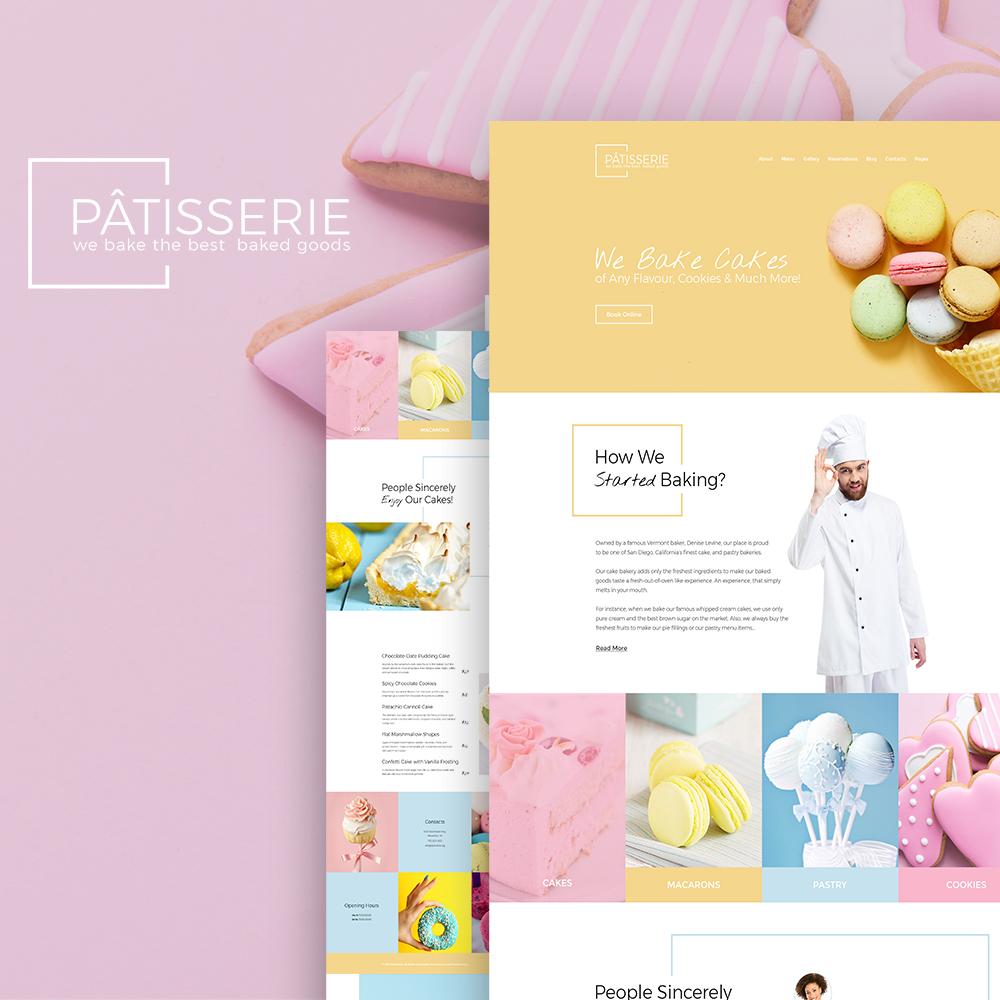 Responsivt Patisserie - Cakery Responsive WordPress-tema #64395