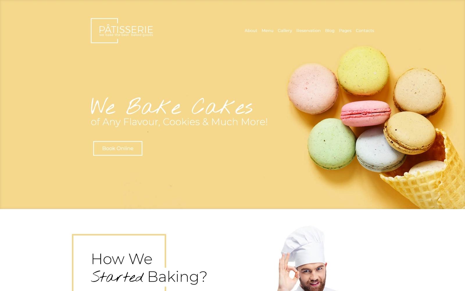 Reszponzív Patisserie - Cakery Responsive WordPress sablon 64395