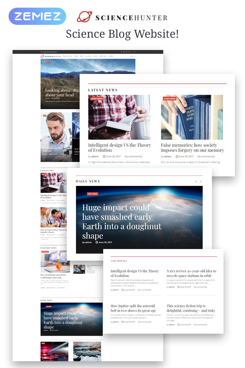 """ScienceHunter - News Portal Responsive"" thème WordPress adaptatif #64381"