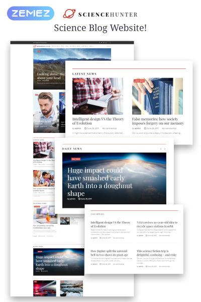 ScienceHunter - News Portal Responsive