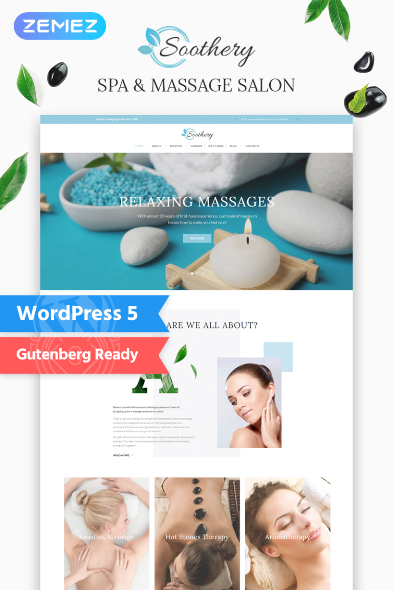 Soothery - SPA & Massage Salon Responsive WordPress Theme New Screenshots BIG