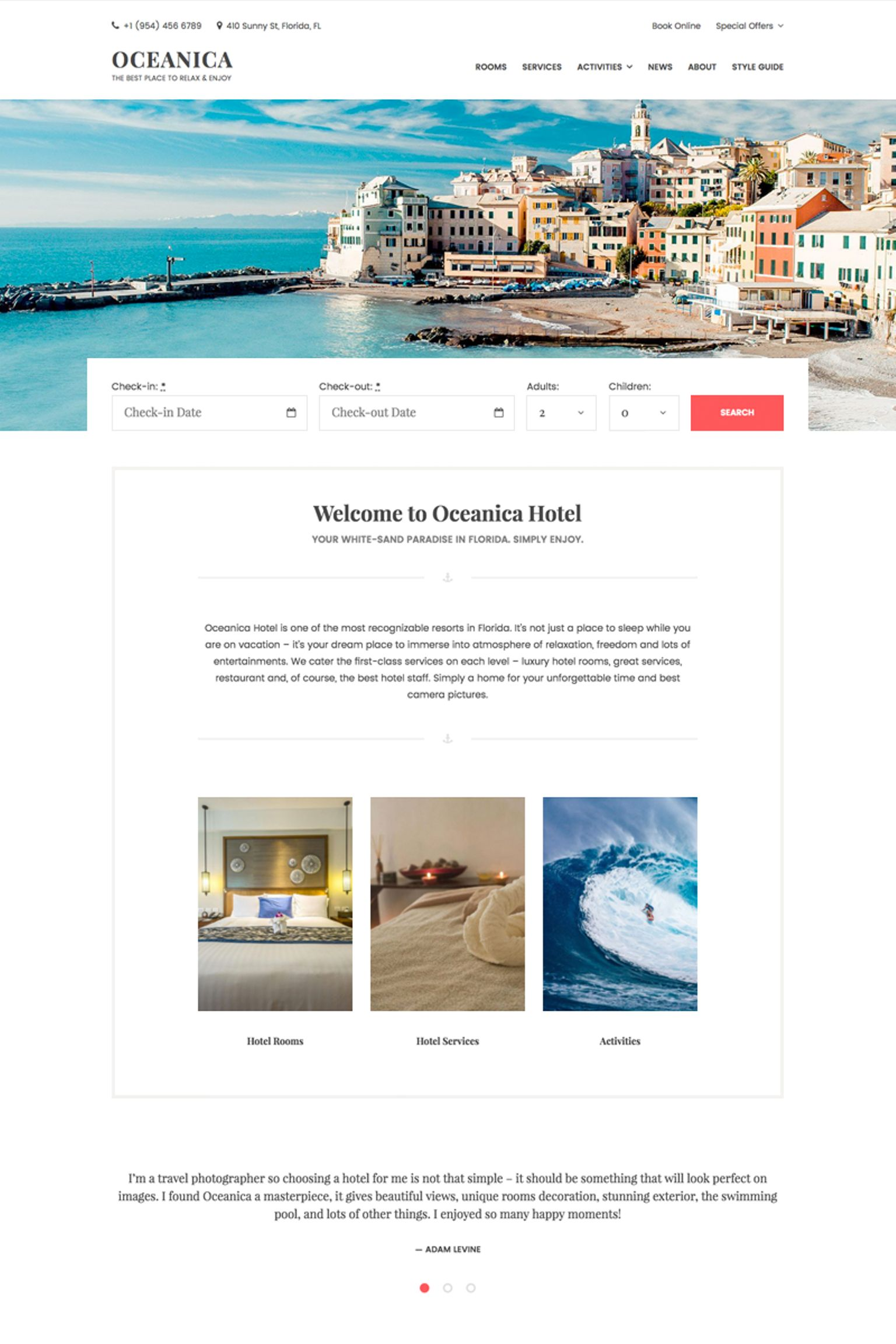 WPML-redo Oceanica - Hotel Booking WordPress-tema #64367