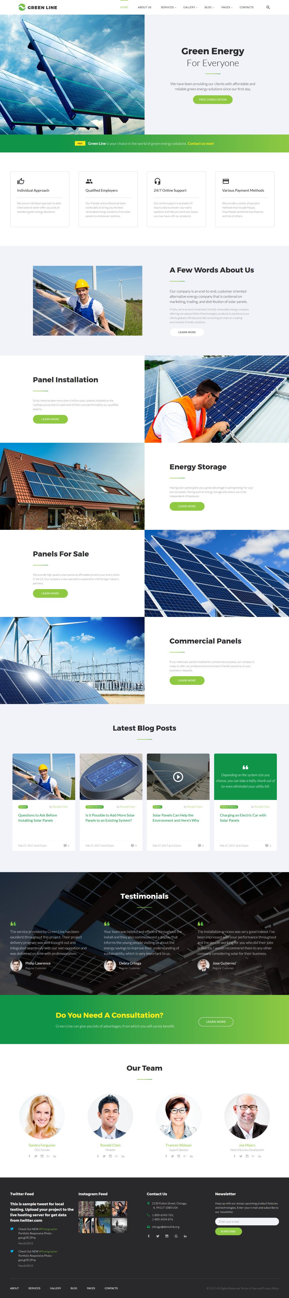 Alternative Power Website Template | Website Templates