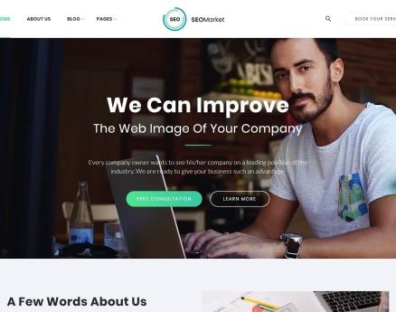 SEOMarket - SEO & Marketing Agency Website Template