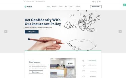 Insurance Responsive Joomla Template