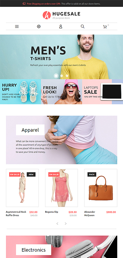 Hugesale PrestaShop Theme 3
