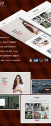 Newsletter-mall för  e-mailtjänster New Screenshots BIG