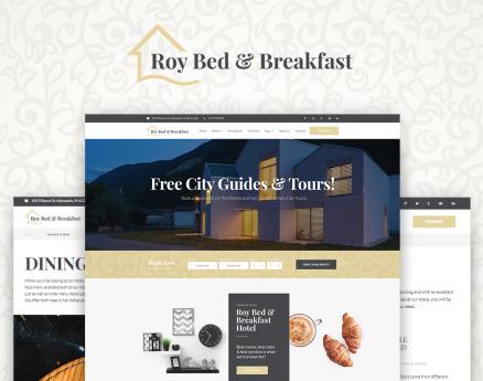 Roy Bed & Breakfast - Small Hotel WordPress Theme