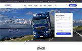 Адаптивний Шаблон сайту на тему транспортна компанія