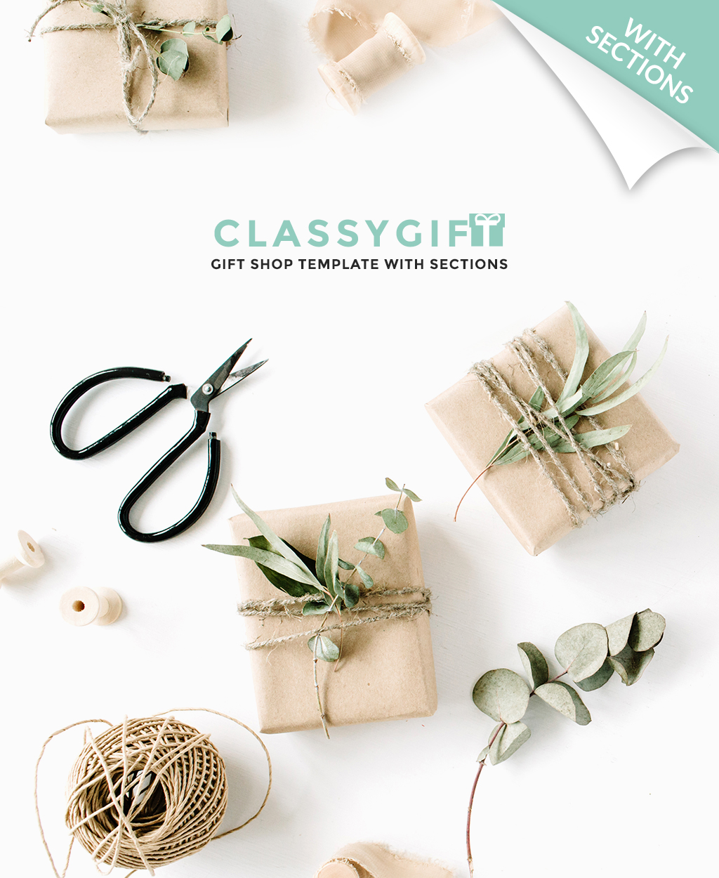 Адаптивний Shopify шаблон на тему подарунки №64401