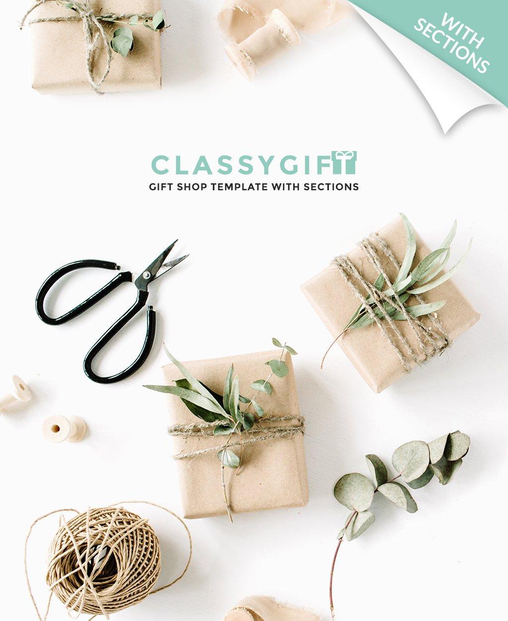 Адаптивный Shopify шаблон №64401 на тему магазин подарков - скриншот