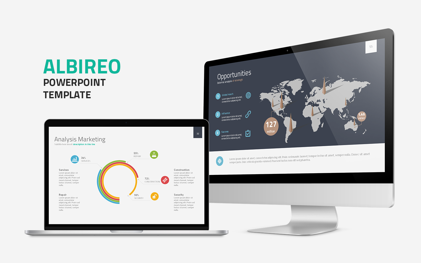 Albireo Powerpoint Template #64470