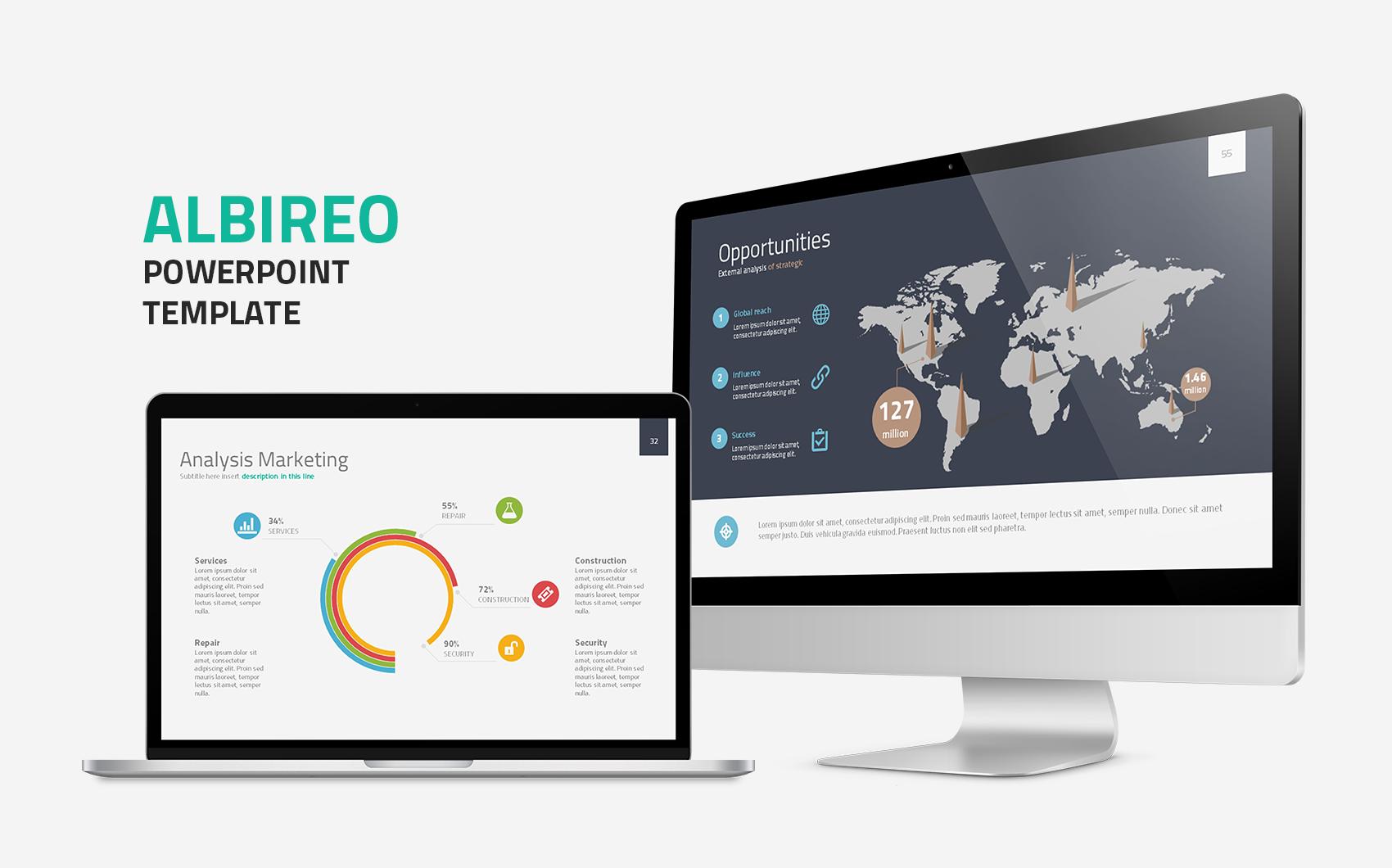 """""""Albireo Powerpoint Template"""" - PowerPoint шаблон №64470"""