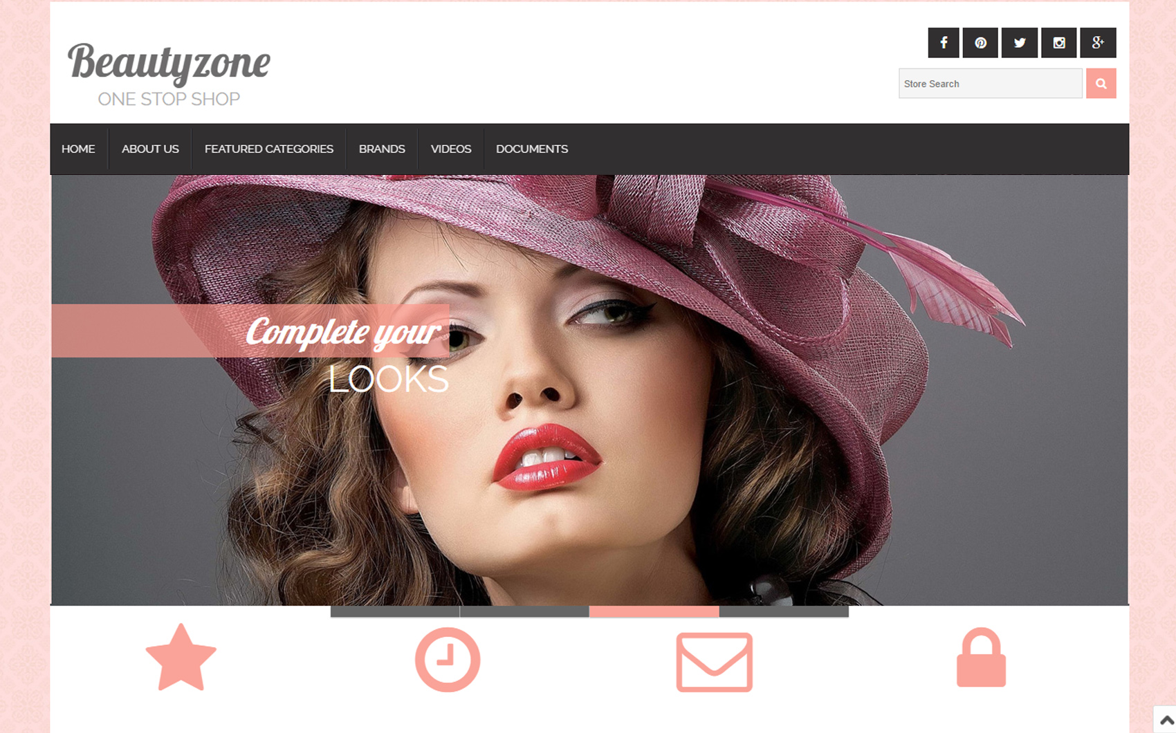 BeautyZone EBay Template - screenshot