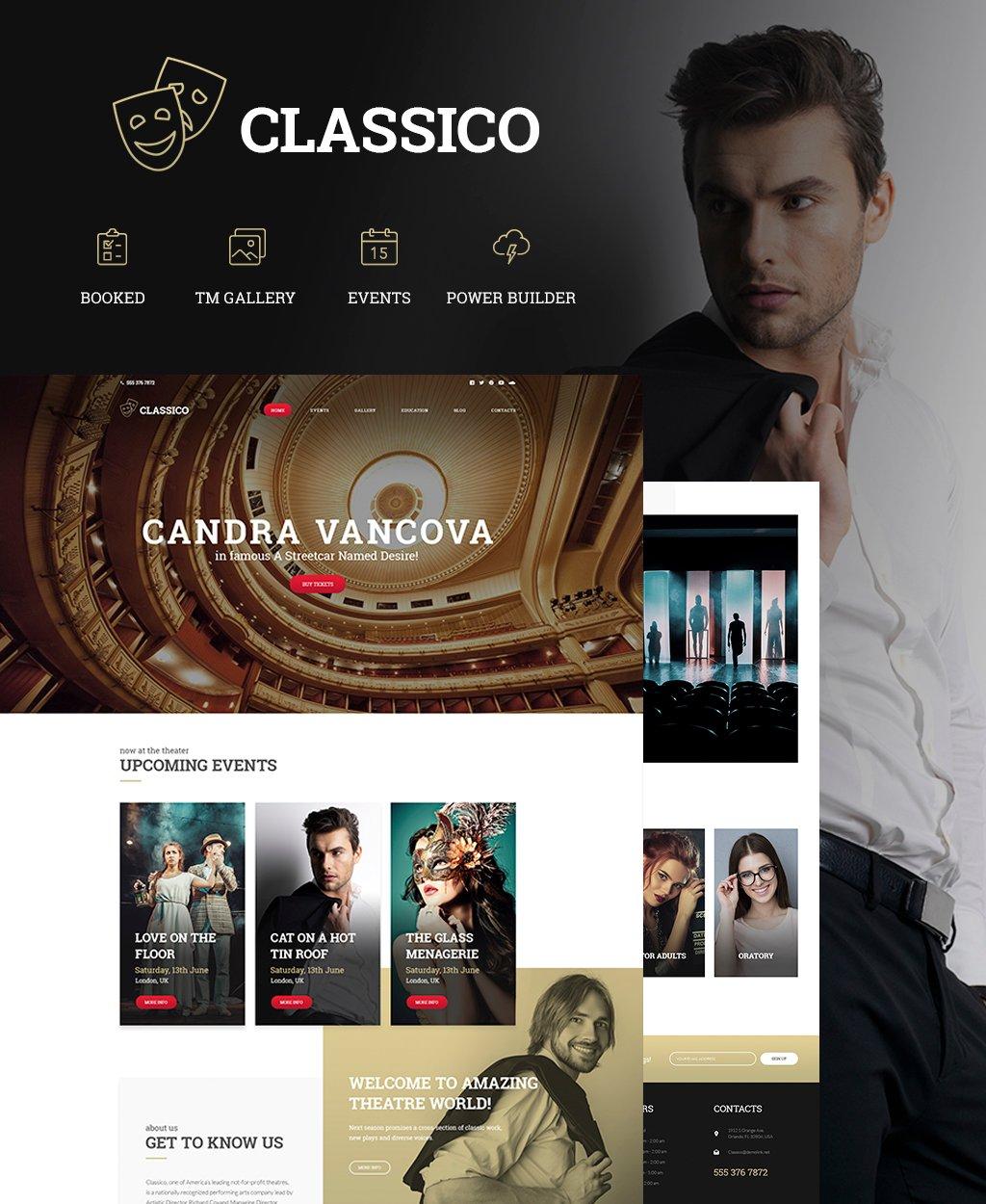 """Classico - Theater Responsive"" - адаптивний WordPress шаблон №64441"