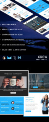 CROW - Responsive Email Template Newsletter Template New Screenshots BIG