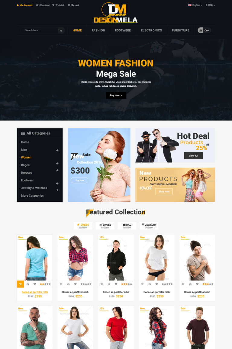 DesignMela eCommerce PSD Template PSD Template New Screenshots BIG