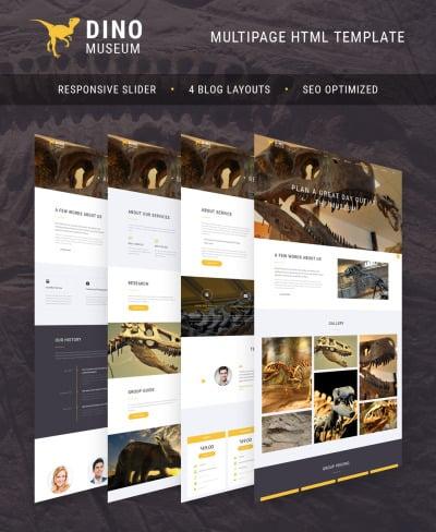 Dino Museum Website Template #64432