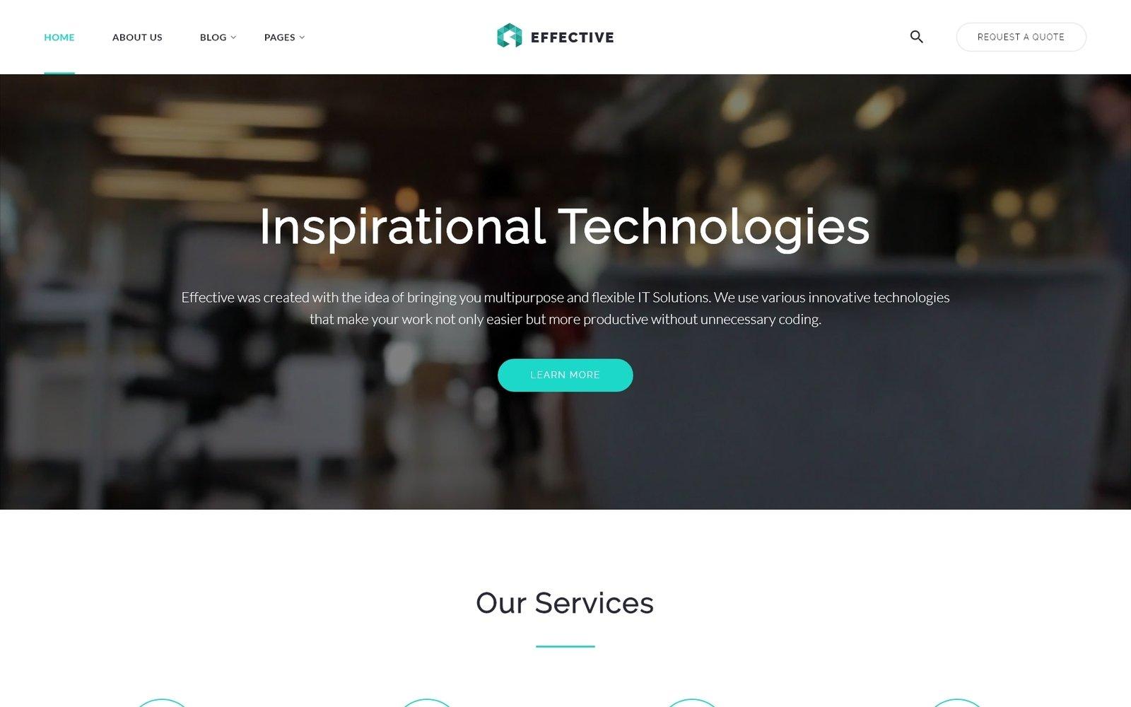 Effective - Development & Consulting Agency Template Web №64425 - screenshot