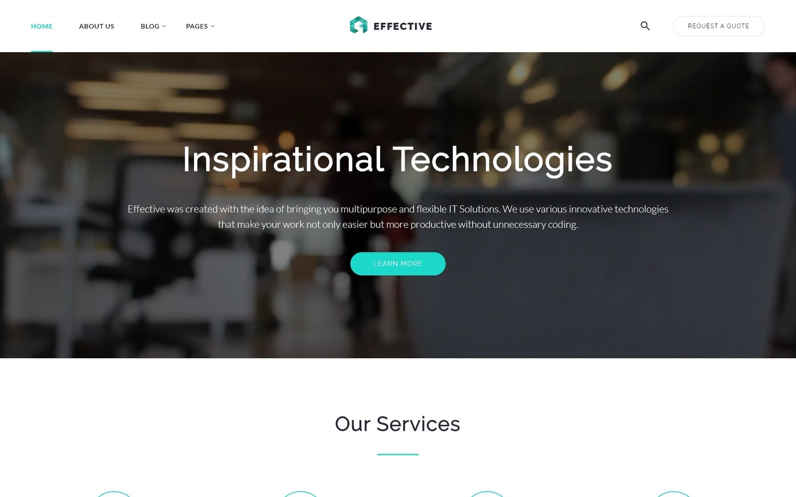 Effective - Development & Consulting Agency Website Template