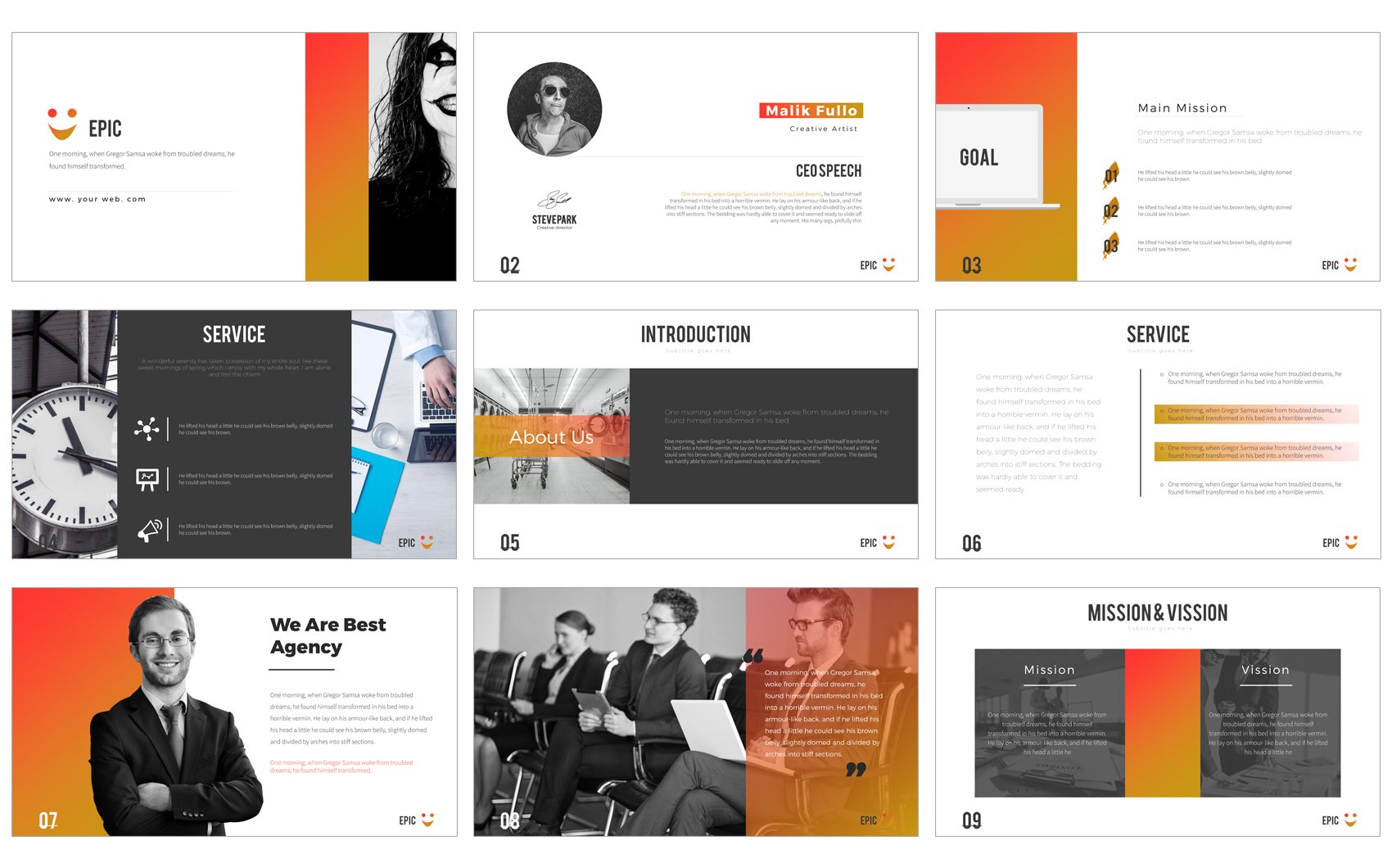 epic powerpoint presentation powerpoint template 64442