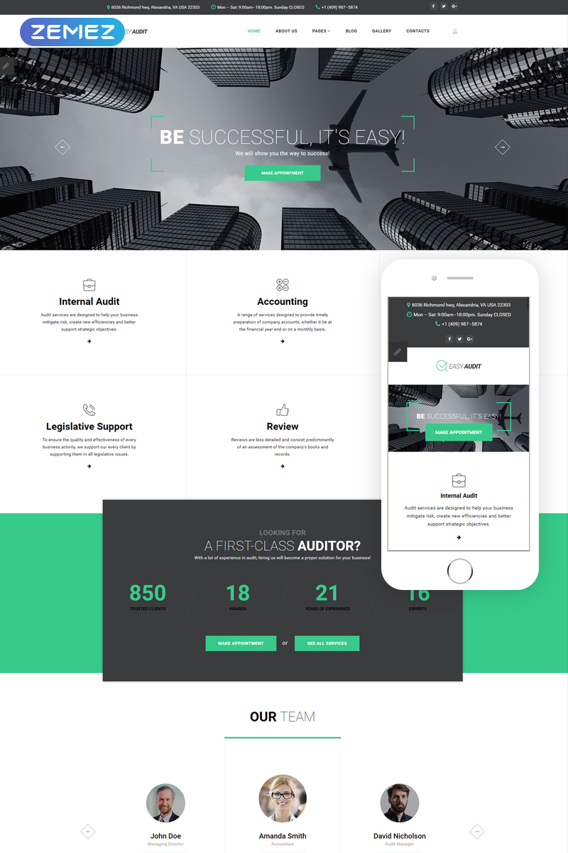 Finance Responsive Joomla Template