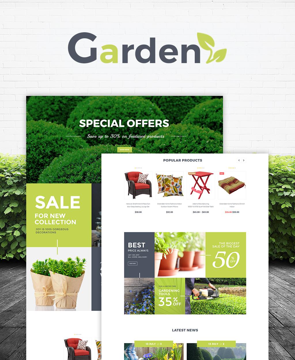 WooCommerce Theme #64475 für Gartendesign