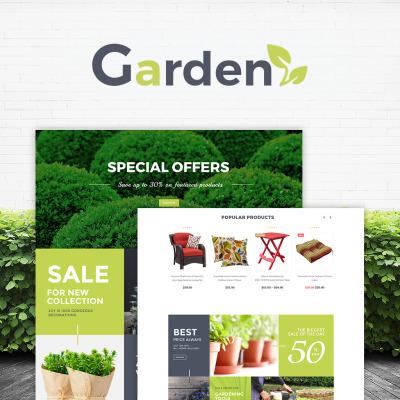 Garten - Website Vorlage für Gartenmarkt  #64475